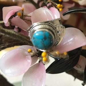 Vintage 925 copper turquoise ring